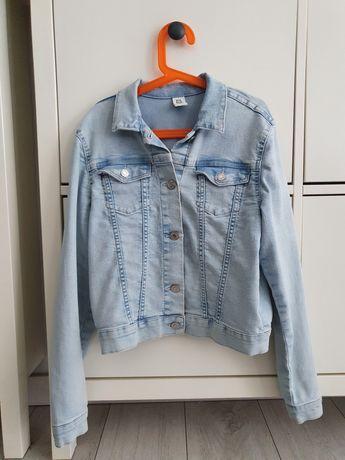 H&M Kurtka jeansowa katana dżinsowa 152 *super stan* niebieska