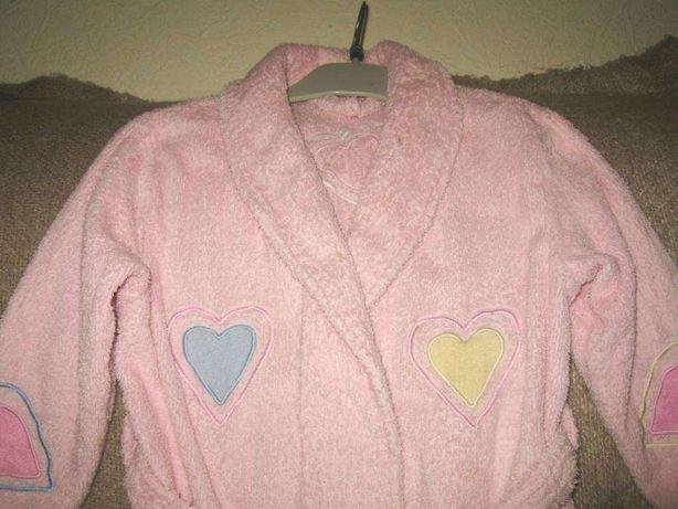 Детский халат с сердечками