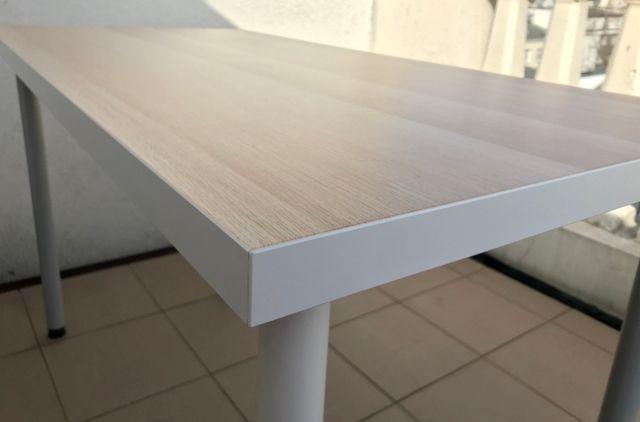 Stół Ikea Linnmon 120x60 biały-dąb stan bardzo dobry - Wwa centrum