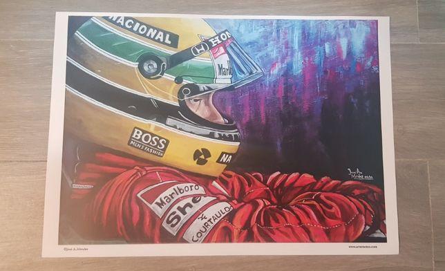 Serigrafia Ayrton Senna