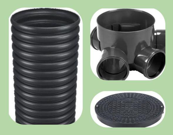 315-160-160 Дренажный смотровой канализационный колодец сводный