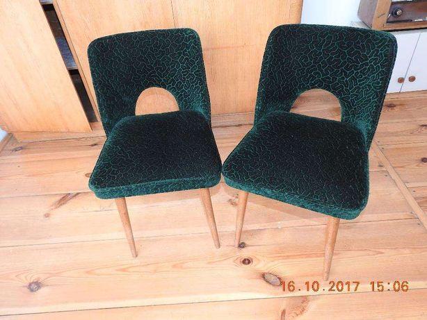 Krzesła PRL lata 60 po profesjonalnej renowacji tapicerki
