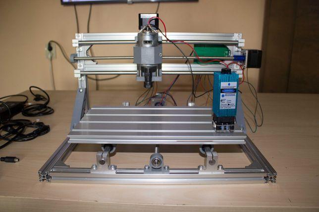 Фрезерний чпу станок CNC 3018 + лазерний модуль 500мВт