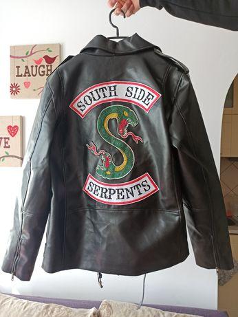 Czarna ramoneska unisex Riverdale South Side Serpents
