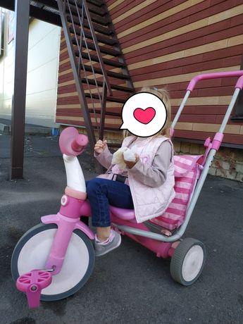 Bелосипед-коляска Chicco Evolution 3в1, каляска, коляска для девочки