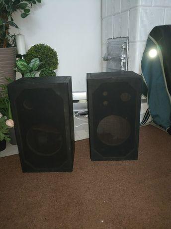 Duże Kolumny Czarne z maskownicami, bez głośników