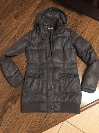 Szara długa kurtka płaszcz r. Xs/S