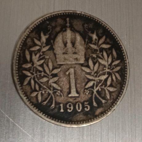 Монета 1 крона австрия 1905 серебро