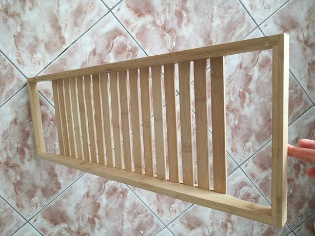 Półka drewniana do wanny