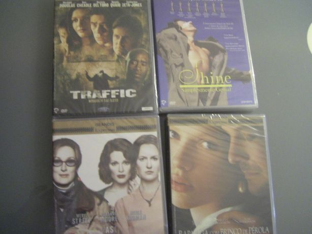 4 Grandes Filmes Expresso. NOVOS!! Shine, Traffic; As Horas; Rapariga