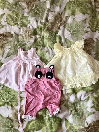 Нарядные вещи на девочку 56-62 размер, платья, комбинезончики