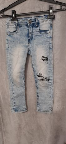 Spodnie jeansy z regulacją w pasie rozm 110