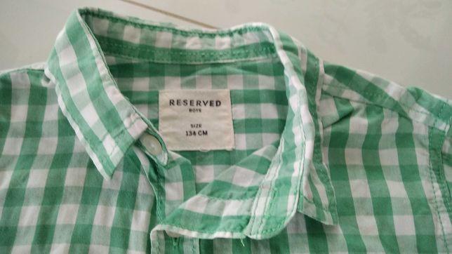 Koszula chłopięca krata Reserved rozm. 134 cm