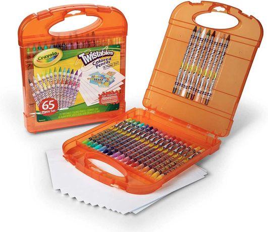 Выкручивающиеся карандаши Крайола  65 предметов  кейсе Crayola