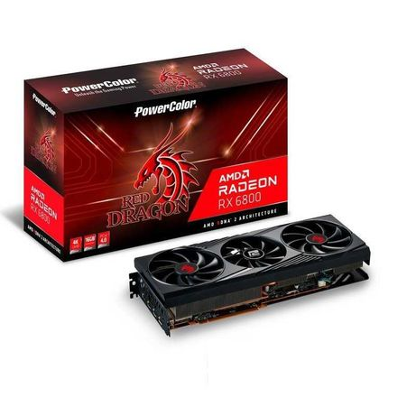 Placa Gráfica PowerColor AMD Radeon RX 6800 Red Dragon 16GB GDDR6