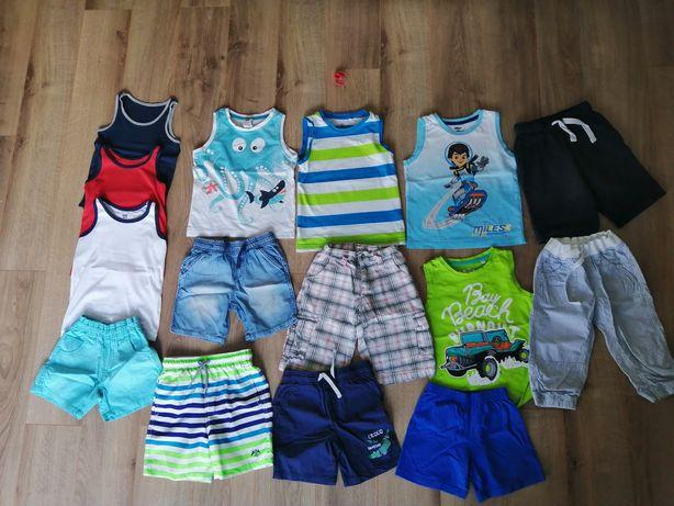 Zestaw na lato chłopca szorty koszulki letnie spodenki 104 110