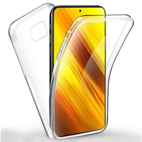 Capa 360 transparente para Xiaomi Poco X3, Poco X3 NFC, Poco X3 Pro