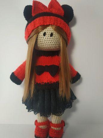 Кукла вязаная Тильда
