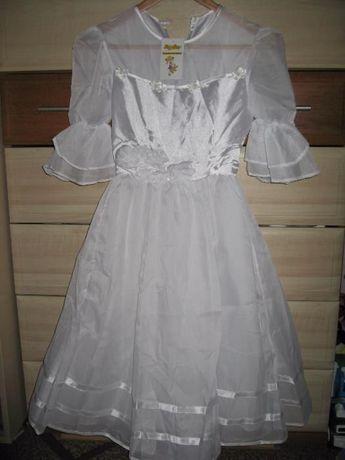 Нове біле нарядне плаття, 7-10 років, 200 грн.
