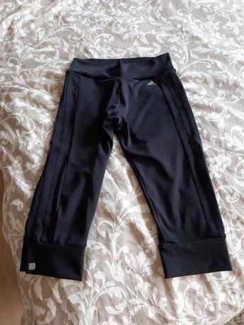 Spodnie dresowe Adidas czarne rybaczki clima 38 S styl nike Reebok