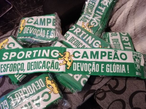 Sporting Campeão, 20/21, cachecol novo