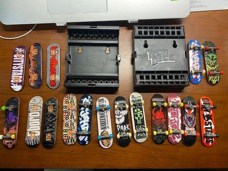 Skates Tech Decks e suportes para boards