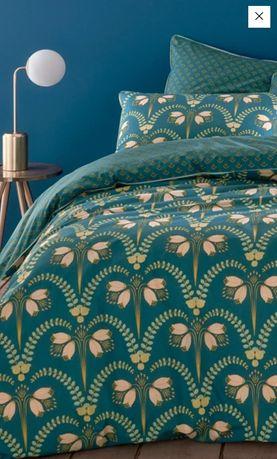 Capa de edredon estampado azul 200x200