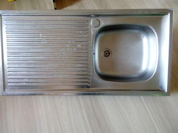 Zlew aluminiowy 100x50 cm.
