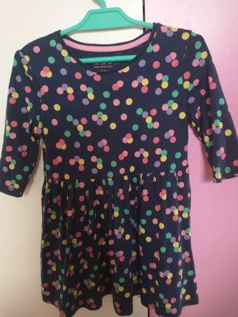 Sukienka dla dziewczynki w kropeczki 98-104