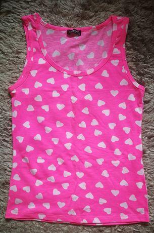 Bokserki damskie koszulki neon róż r. S