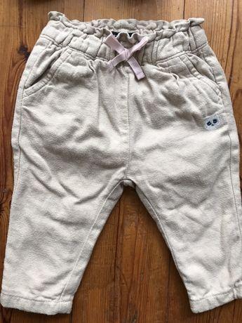 Spodnie ocieplane , body , sukienka i opaska 74
