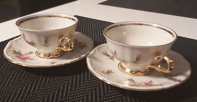 Dwa komplety porcelanowe do mokki Bareuther Waldsassen Bavaria