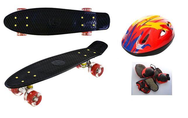 Пенни борд, Скейт Best Penny Board LED 22 Шлем + защита. ЛЬВОВ