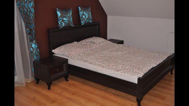 Łóżko sypialniane z materacem 160x200 sypialnia stoliki nocne BRW