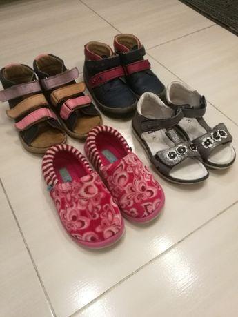 Kapcie sandały Buty skóra 26 - 28 dla dziewczynki