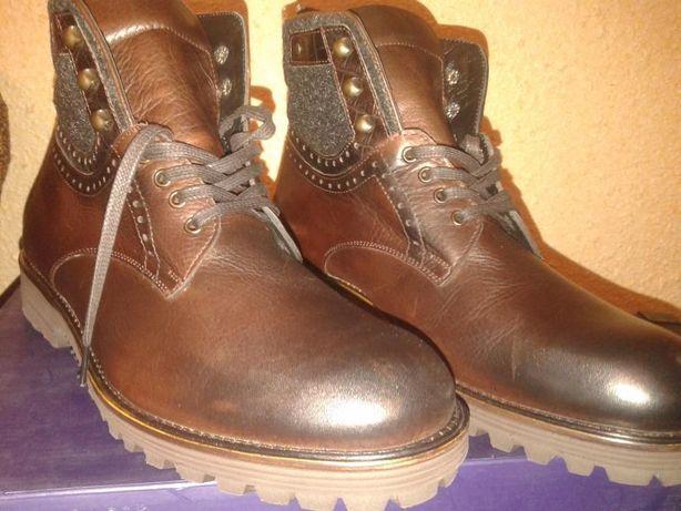 Ботинки из натуральной кожи 43. Бесплатно доставка