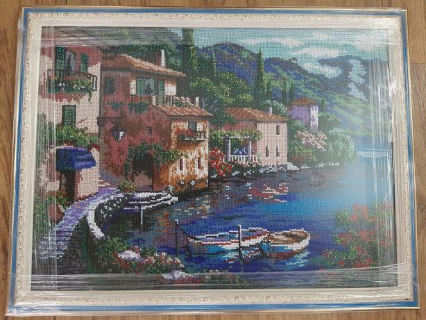 Продам картину Італія (Italy) вишиту чешским бісером в рамці