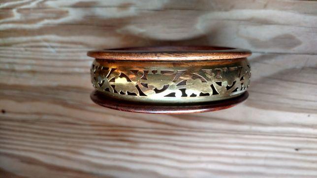 Piękna, lekka biżuteria, bransoletka indyjska, egzotyczna, drewniana