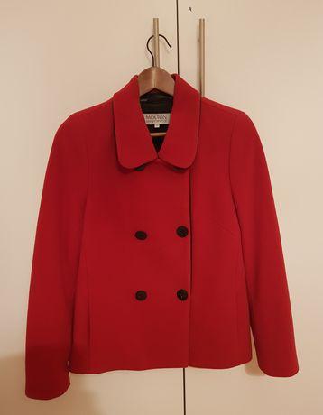 Elegancki czerwony płaszcz zimowy Molton r. 38