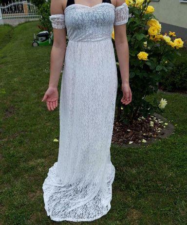Suknia, sukienka - na sesję ciążową, S