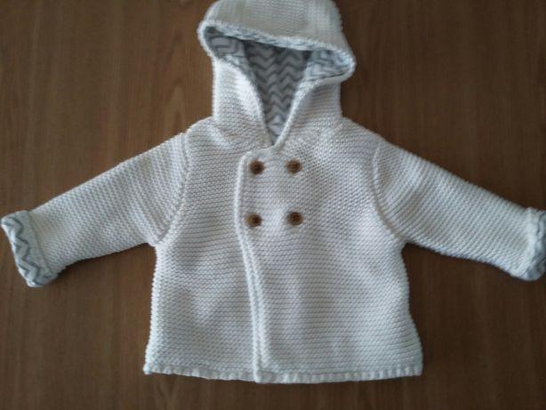 Sweterek z kapturem 0 - 3 m