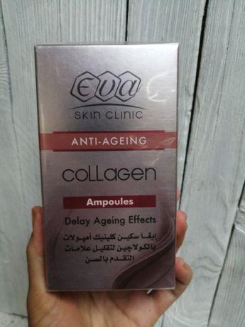 Коллагеновые Ампулы Eva Collagen 10 Ампул Х 2 Мл, Жидкий Коллаген, Еги