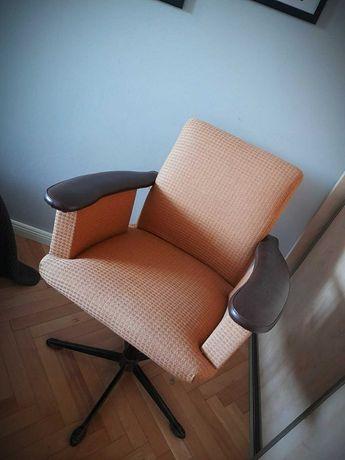 Fotel retro PRL klasyk biurowy 2 szt super stan