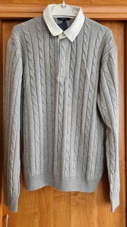GANT Szary sweter męski XL NOWY taniej o 200 zł!