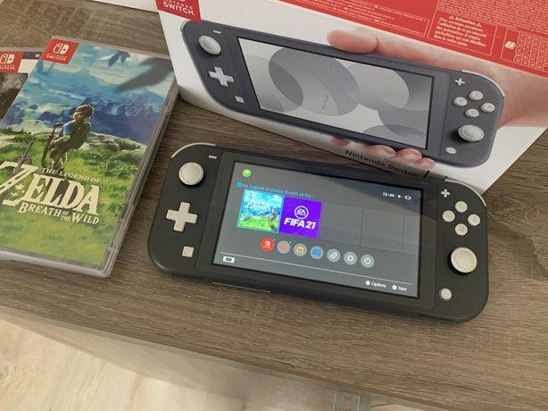 Konsola Nintendo Switch Lite jak nowa gry Zelda Fifa Diablo Mortal