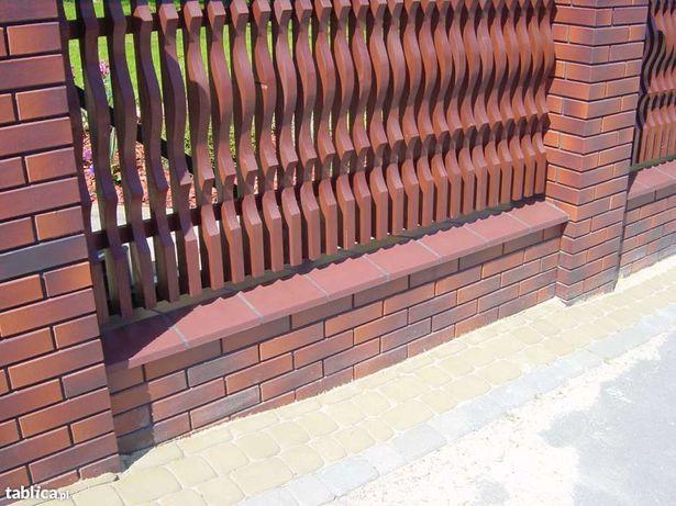 Daszki na murki ogrodzeniowe murki klinkierowe 35x50cm PRODUCENT TOMI