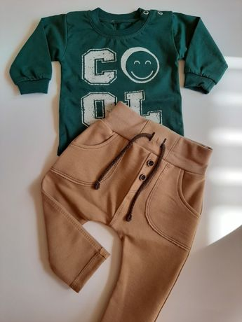 Spodnie Czarek cappuccino Mrofi rozmiar 86