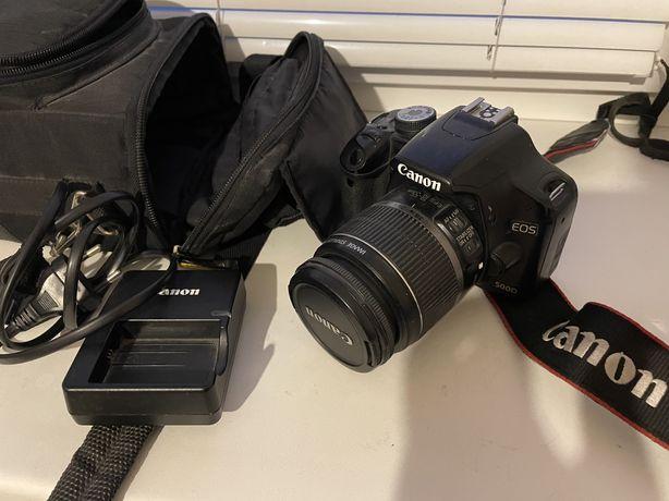 Canon 500D 18-55 kit + сумка