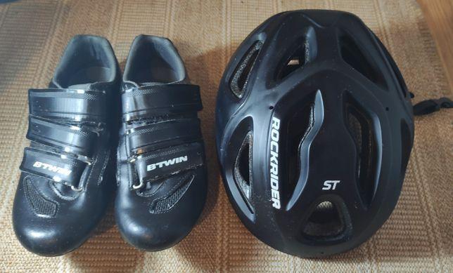 Sapatos de ciclismo Btwin +capacete!