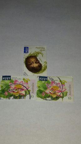 Znaczki pocztowe z Australi i z USA